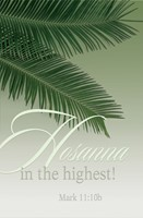 Hosanna Palm Sunday Bulletin (Pkg of 50) (Bulletin)