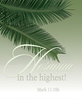 Hosanna Palm Sunday Bulletin Large (Pkg of 50) (Bulletin)