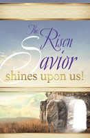 Risen Saviour Easter Sunrise Bulletin (Pkg of 50) (Bulletin)
